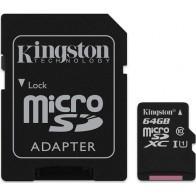 Karta pamięci KINGSTON microSDXC 64GB + adapter-20