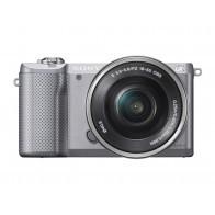 Aparat hybrydowy SONY Alpha A5000 + obiektyw 16 50 mm Srebrny-20