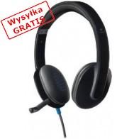 Słuchawki z mikrofonem LOGITECH H540 Czarny-20