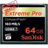 Karta pamięci Compactflash SanDisk Extreme PRO 64GB 160/150 MB/s-20