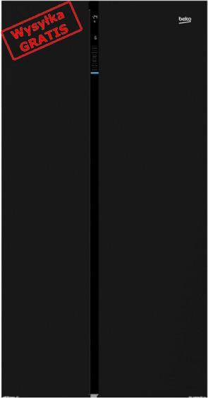 Lodówka Side By Side Beko GN 163130 ZGB czarna