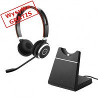 Słuchawki bezprzewodowe JABRA Evolve 65 UC Stereo + Stacja Ładująca-20