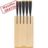 Bloki do noży FISKARS Zestaw 5 noży w drewnianym bloku 1014211-20