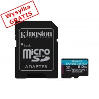 Karta pamięci KINGSTON Canvas Go Plus 512 GB + adapter-20